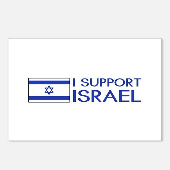 I Support Israel (White) Postcards (Package of 8)