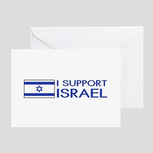 I Support Israel (White) Greeting Card