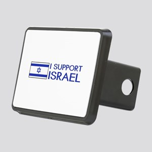 I Support Israel (White) Rectangular Hitch Cover