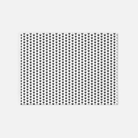 Paw Print Pattern 5'x7'Area Rug
