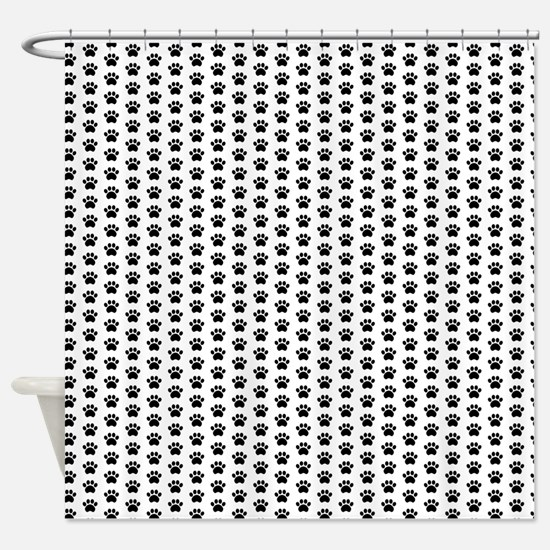 Paw Print Pattern Shower Curtain
