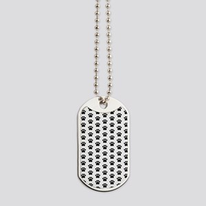 Paw Print Pattern Dog Tags