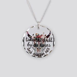Grab the bull by the horns Necklace Circle Charm