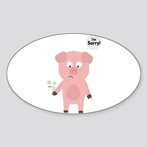 Pig Apologize with flowers Sticker