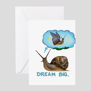 dream big snail Greeting Cards