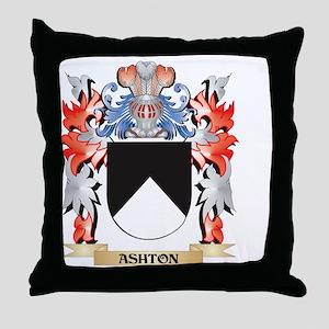 Ashton Coat of Arms - Family Crest Throw Pillow