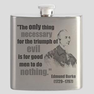 Edmund Burke Triumph of Evil3 Flask