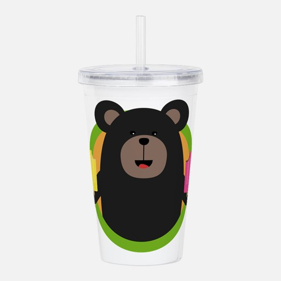 Grizzly with two Popsi Acrylic Double-wall Tumbler