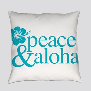 Peace & Aloha Hawaii Everyday Pillow