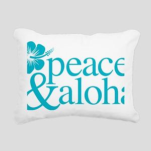 Peace & Aloha Hawaii Rectangular Canvas Pillow