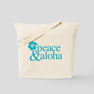 Peace & Aloha Hawaii Tote Bag