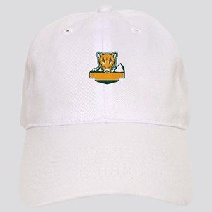Cougar Mountain Lion Head Retro Baseball Cap