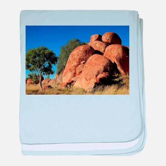 Devil's Marbles, Outback Australi baby blanket