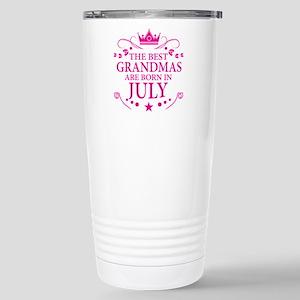 The Best Grandmas Are Born In July Travel Mug