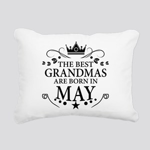 The Best Grandmas Are Born In May Rectangular Canv