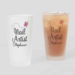 Nail Artist Personalized Gift Drinking Glass