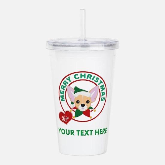 Custom Chihuahua Chris Acrylic Double-wall Tumbler