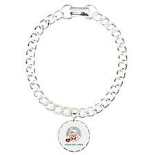 Custom Chihuahua Christm Charm Bracelet, One Charm