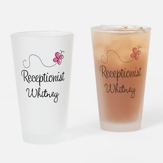 Receptionist Personalized Gift Drinking Glass