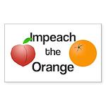 Impeach The Orange Rectangular Sticker