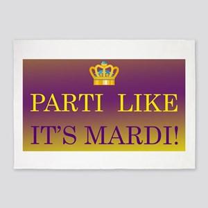 Parti Like it's Mardi! 5'x7'Area Rug