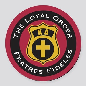 Kappa Alpha The Loyal Order Round Car Magnet