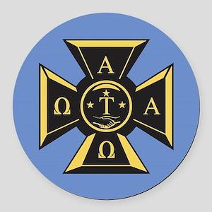Alpha Tau Omega Emblem Round Car Magnet