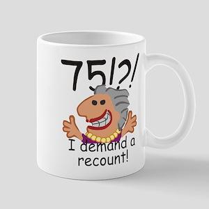 Recount 75th Birthday Mugs