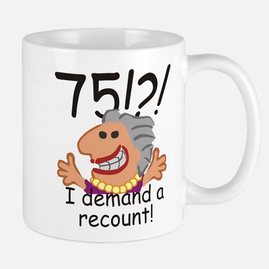 Recount 75th Birthday Mugs