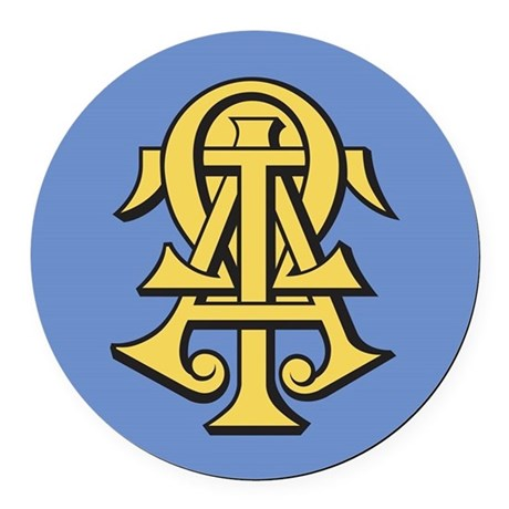 Alpha Tau Omega Ato Letters Round Car Magnet By Alphatauomega