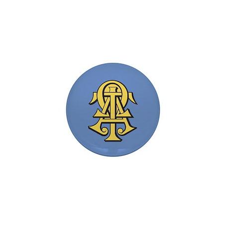 Alpha Tau Omega Ato Letters Mini Button By Alphatauomega
