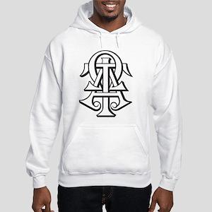 Alpha Tau Omega ATO Letters Hooded Sweatshirt