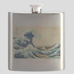 The Great Wave off Kanagawa Flask