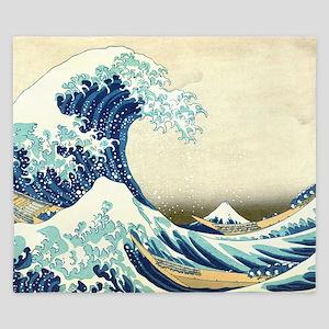 The Great Wave off Kanagawa King Duvet