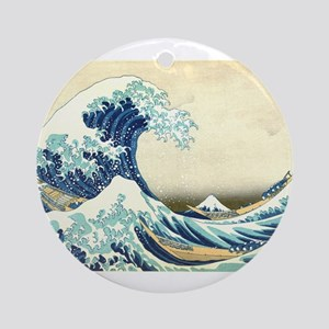 The Great Wave off Kanagawa Round Ornament