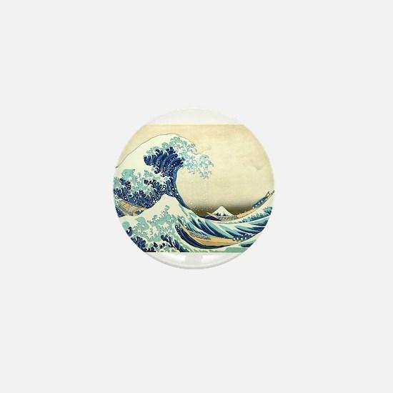 The Great Wave off Kanagawa Mini Button