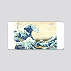 The Great Wave off Kanagawa Aluminum License Plate