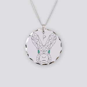 Bunny Love Necklace Circle Charm