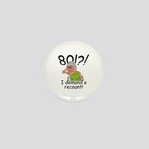 Recount 80th Birthday Funny Old Lady Mini Button