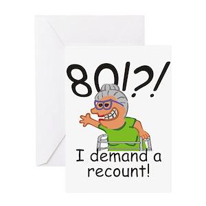 Funny 80th Birthday Greeting Cards