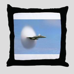 F/A 18 Sonic Boom Throw Pillow