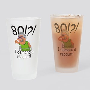 Recount 80th Birthday Funny Old Lady Drinking Glas