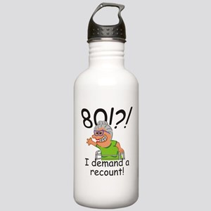 Recount 80th Birthday Funny Old Lady Water Bottle