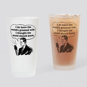 Worlds Greatest Wife Drinking Glass