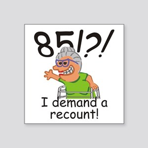 Recount 85th Birthday Funny Old Lady Sticker