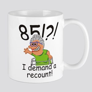 Recount 85th Birthday Funny Old Lady Mugs