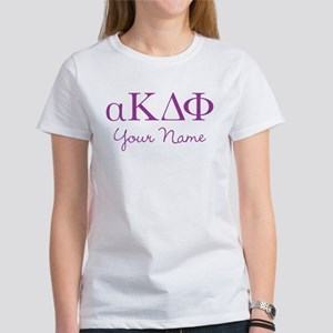 Alpha Kappa Delta Phi Personalized Women's T-Shirt