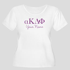 Alpha Kappa D Women's Plus Size Scoop Neck T-Shirt