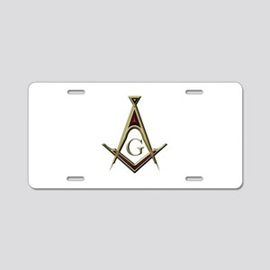 Masonic Square & Compass Aluminum License Plate