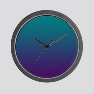 Ombre Purple And Teal Wall Clock